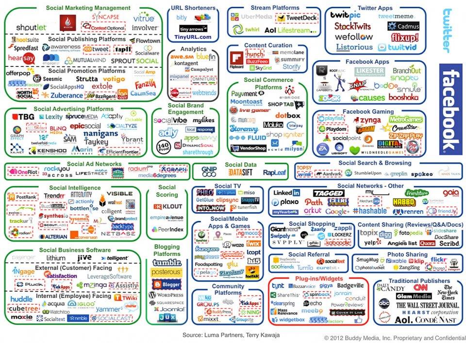 Buddy Media Social Marketing Infographic