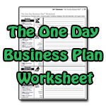 The One Day Business Plan Worksheet